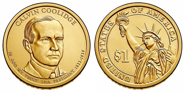 2014 D Calvin Coolidge Presidential Dollar Coin