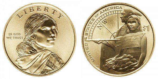 2014-D Enhanced Finish Uncirculated Sacagawea Dollar