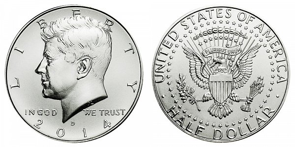 2014 D High Relief Kennedy Half Dollar