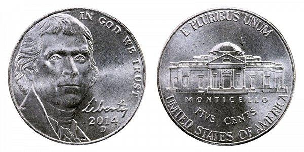 2014 D Jefferson Nickel