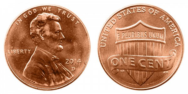 2014 D Lincoln Shield Cent Penny