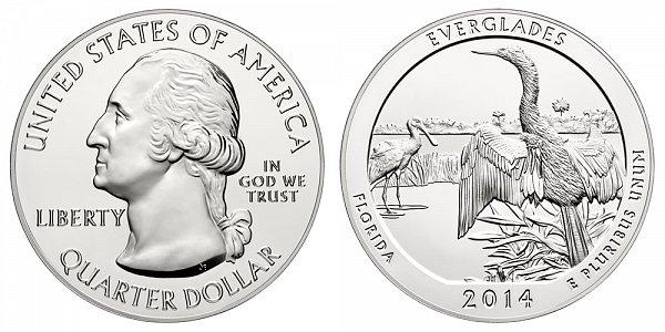 2014 Everglades 5 Ounce Bullion Coin - 5 oz Silver