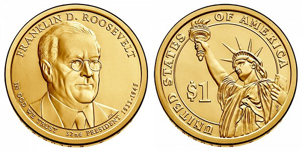 2014 D Franklin D. Roosevelt Presidential Dollar Coin