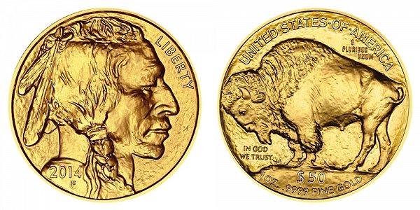 2014 American Gold Buffalo - Bullion $50 1oz One Ounce Gold
