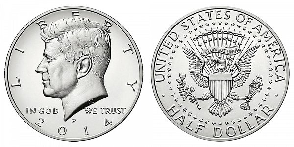 2014 P High Relief Kennedy Half Dollar