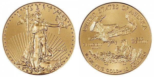 2014 Quarter Ounce American Gold Eagle - 1/4 oz Gold $10