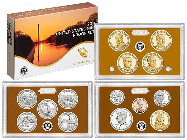 2014-S United States Proof Set - 14 Piece Set - All Coins