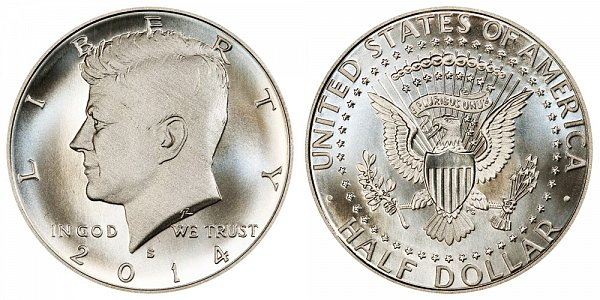 2014 S Enhanced Uncirculated Silver Kennedy Half Dollar