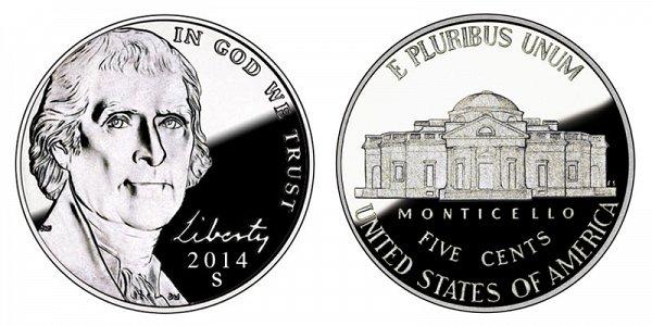 2014 S Jefferson Nickel Proof