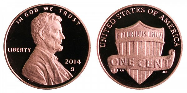 2014 S Lincoln Shield Cent Penny