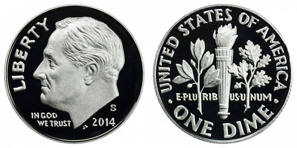 2014 S Roosevelt Dime Proof
