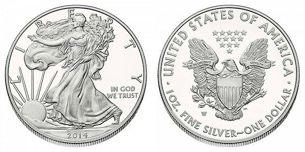 2014 W Proof American Silver Eagle