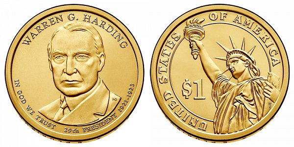 2014 P Warren G. Harding Presidential Dollar Coin