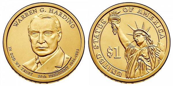 2014 D Warren G. Harding Presidential Dollar Coin