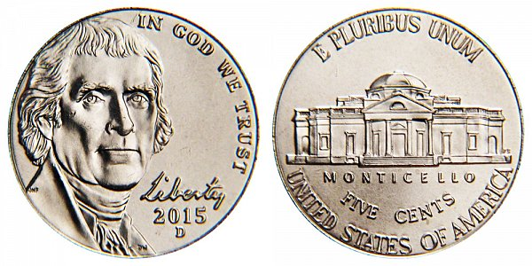 2015 D Jefferson Nickel