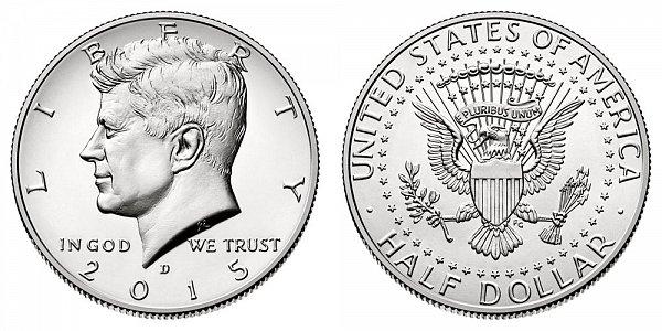 2015 D Kennedy Half Dollar