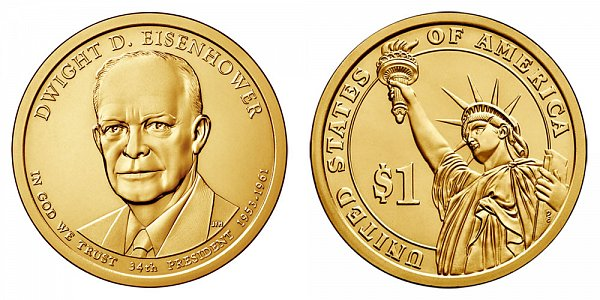2015 D Dwight D. Eisenhower Presidential Dollar Coin