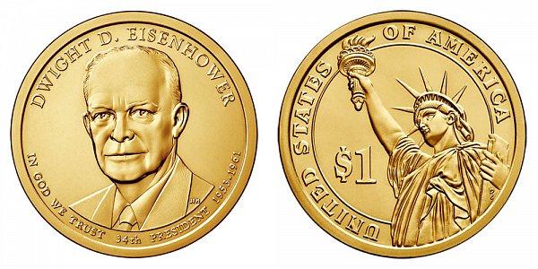 2015 D Dwight D. Eisenhower Presidential Dollar Coin