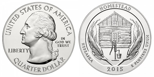 2015 Homestead 5 Ounce Bullion Coin - 5 oz Silver