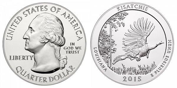 2015 Kisatchie 5 Ounce Bullion Coin - 5 oz Silver