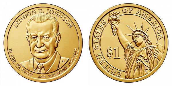 2015 D Lyndon B. Johnson Presidential Dollar Coin