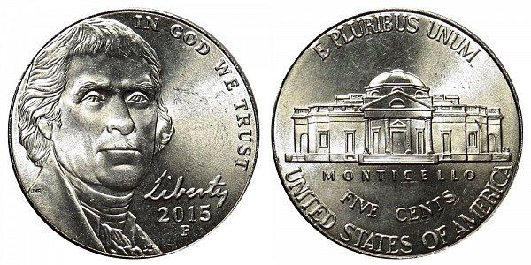 2015 P Jefferson Nickel