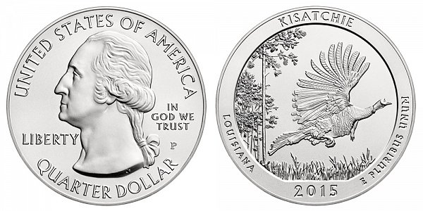 2015 Kisatchie 5 Ounce Burnished Uncirculated Coin - 5 oz Silver