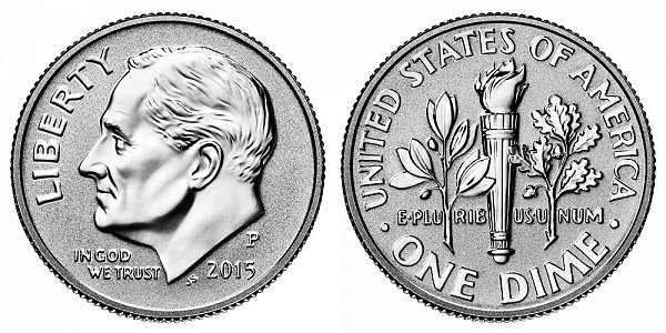 2015 P Reverse Proof Roosevelt Dime
