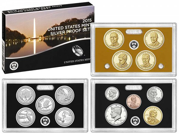 2015-S United States Silver Proof Set - 14 Piece Set - All Coins