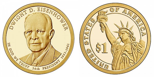 2015 S Dwight D. Eisenhower Presidential Dollar Coin - Proof