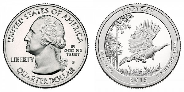 2015 S Proof Kisatchie National Forest Quarter - Louisiana