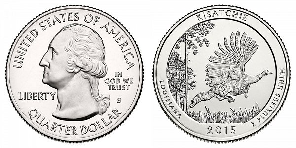 2015 S Uncirculated Kisatchie National Forest Quarter - Louisiana