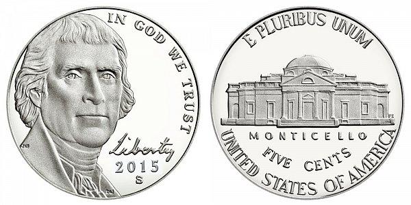 2015 S Proof Jefferson Nickel