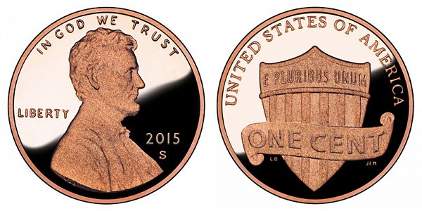 2015 S Lincoln Shield Cent Penny