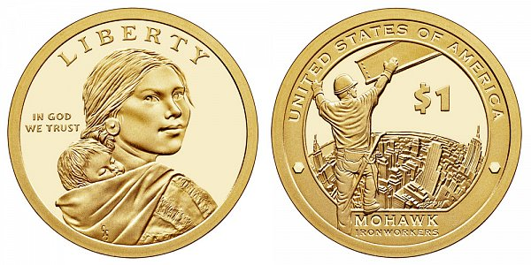 2015 S Proof Sacagawea Native American Dollar - Mohawk Ironworkers
