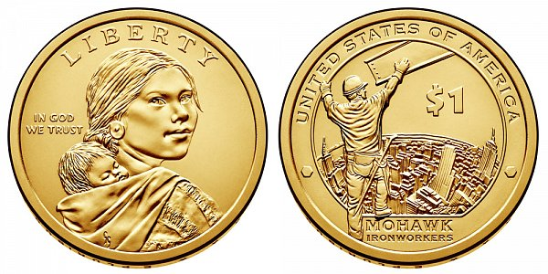 2015 P Sacagawea Native American Dollar - Mohawk Ironworkers