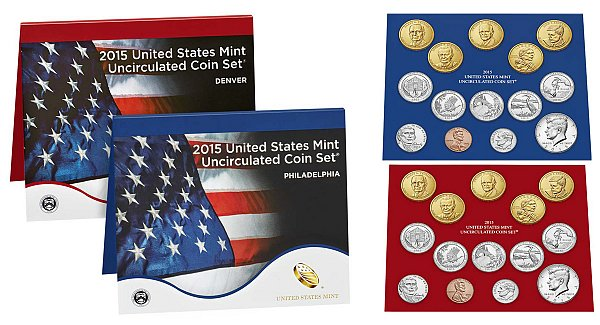 2015 Uncirculated Mint Set - Denver and Philadelphia