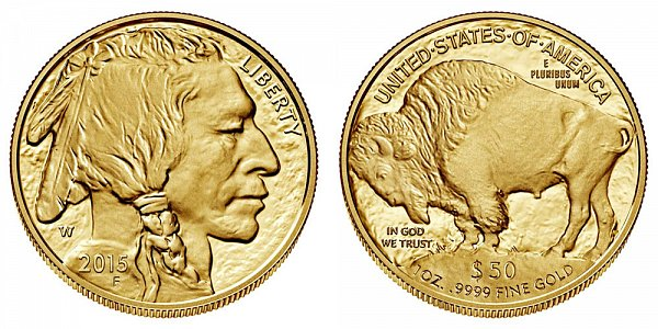 2015 W One Ounce American Gold Buffalo - $50 1oz Gold