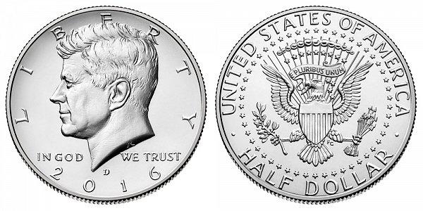 2016 D Kennedy Half Dollar