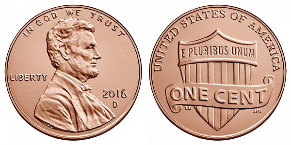 2016 D Lincoln Shield Cent Penny
