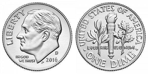 2016 D Roosevelt Dime