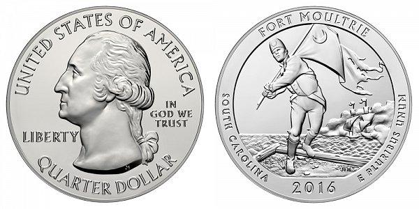2016 Fort Moultrie 5 Ounce Bullion Coin - 5 oz Silver