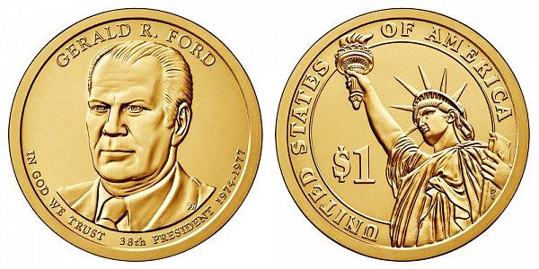 2016 P Gerald Ford Presidential Dollar