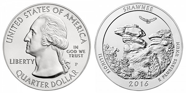 2016 Shawnee 5 Ounce Burnished Uncirculated Coin - 5 oz Silver