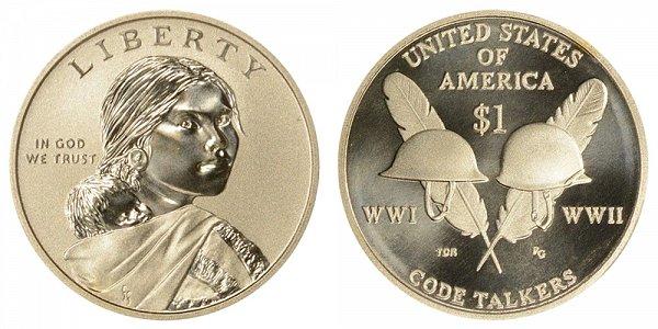 2016-S Enhanced Finish Uncirculated Sacagawea Dollar