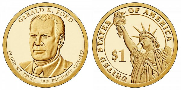 2016 S Proof Gerald Ford Presidential Dollar