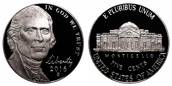 2016 S Proof Jefferson Nickel