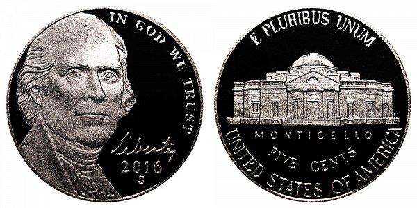 2016 S Proof Jefferson Nickel