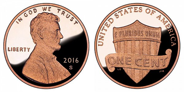 2016 S Lincoln Shield Cent Penny