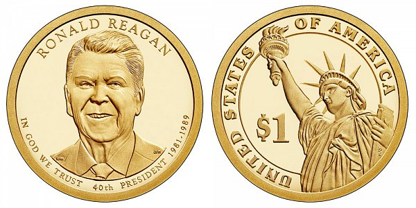 2016 S Proof Ronald Reagan Presidential Dollar